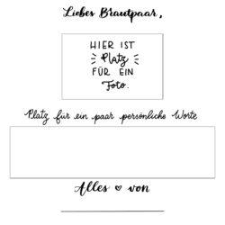 Gästebuch Vorlage mit Platz für Foto