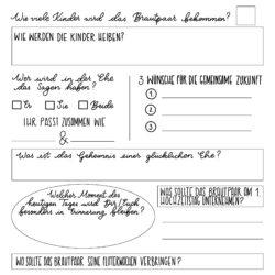 Gästebuch Vorlage mit vielen unterschiedlichen Fragen